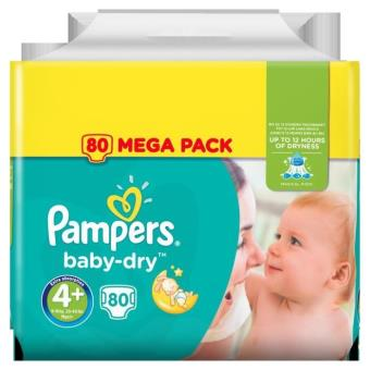 Pampers Baby Dry Taille 4 9 18 Kg X80 Couches Accessoires De
