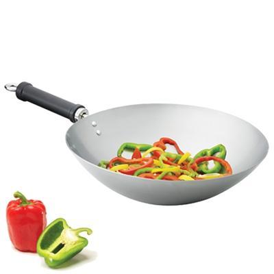 Wok en acier carbone Pure Orient, 30 cm