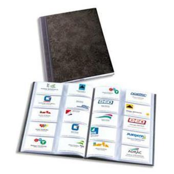 Album Elegance Noir Capacite 400 Cartes De Visite En PVC Expanse Format A4 L23 X H307 P12 Cm Chemise Sous Et Rabat Elastique Top Prix