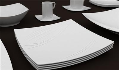 Porcelaine blanche kensai*plat rectangulaire 37x23cm