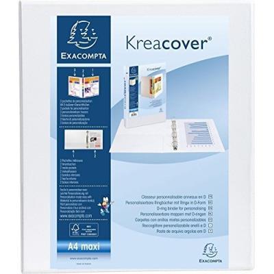 Classeur Exacompta personnalisable PEVA Kreacover 4 annx en D 32x27,5cm Dos 50mm Blanc