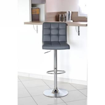 crunch lot de 2 tabourets de bar gris achat prix fnac - Lot De 2 Tabouret De Bar