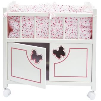 accessoire pour poup e lit en bois avec armoire calinou accessoire poup e achat prix fnac. Black Bedroom Furniture Sets. Home Design Ideas