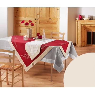 Nappe rectangle 150x240 PASSIONA naturel/lin