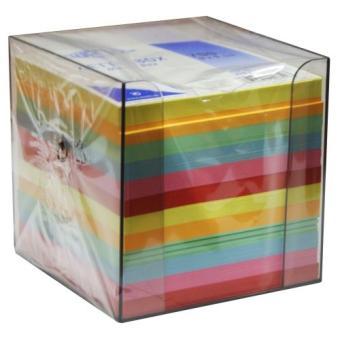 wedo 270265016 cube m mo en plastique avec feuillets 9 5 x 9 5 cm transparent werner dorsh wedo. Black Bedroom Furniture Sets. Home Design Ideas