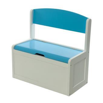 banc et bacs de rangement enfant bleu en bois fabio xl momo for kids achat prix fnac. Black Bedroom Furniture Sets. Home Design Ideas