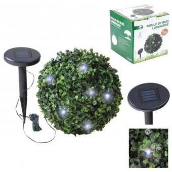Lampe Boule Buisson Buis Lumineuse Guirlande Solaire Rechargeable