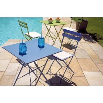 Ensemble de jardin de 2 chaises pliantes + 1 table pliante en fer ...