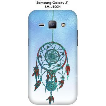Coque Samsung Galaxy J1 - SM-J100H Capteur de rêves fond bleu métallisé