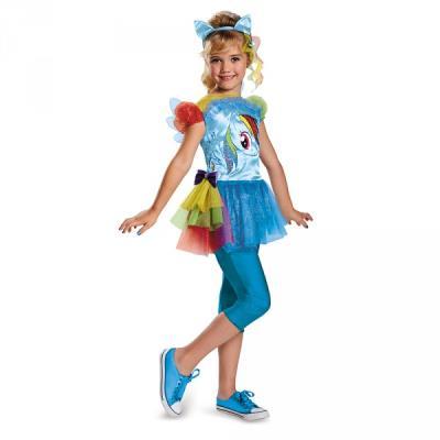 Costume de Rainbow Dash Mon petit poney pour fille - 4-6 ans