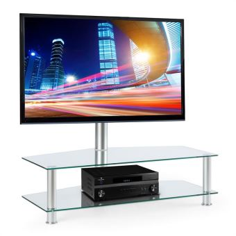 89 91 sur auna support en aluminium tag res en verre pour cran plat plasma tv lcd de 94. Black Bedroom Furniture Sets. Home Design Ideas
