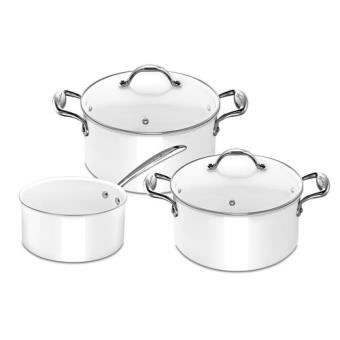 Batterie de cuisine lagostina accademia bianca 3 pi ces - Batterie de cuisine lagostina ...