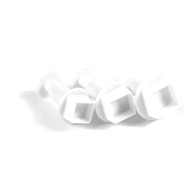 Loisirs Créatifs DIY - 3 Emporte-pièces Poussoir Carré - Pâte polymère, de métal
