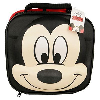 Disney Mickey Mouse Thermique 3D Sac Lunch École, 28 cm, Rouge
