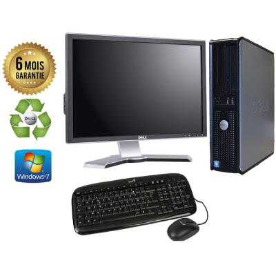 Unite Centrale Dell 780 SFF Core 2 Duo E7500 2,93Ghz Mémoire Vive RAM 8GO Disque Dur 120Go SSD Graveur DVD Windows 7 - Ecran 20(selon arrivage) - Processeur Core 2 Duo E7500 2,93Ghz RAM 8GO HDD 120Go SSD Clavier + Souris Fournis
