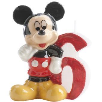 Bougie Anniversaire Mickey Chiffre 6 Article De Fete Achat