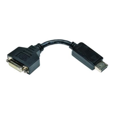 "Tripp Lite 6in Displayport to DVI Adapter Video Converter DP-M to DVI-I-F 6"" - carte d'écran -"