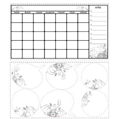 ROOMMATES RMK1556SCS SEC CALENDRIER EFFACER PEEL & STICK WALL DECAL