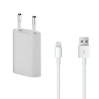 chargeur secteur cable usb apple iphone 5 5s accessoire pour t l phone mobile achat. Black Bedroom Furniture Sets. Home Design Ideas