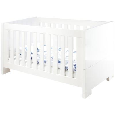 Pinolino - Lit bébé évolutif Sky - 140*70 - laqué blanc brillant