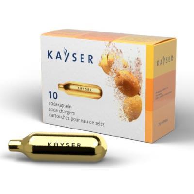 kayser pack de 10 cartouches gaz pour siphon à eau de seltz 1101
