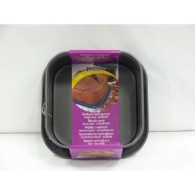 patisse 02918 moule à manquécharnière carré antiadhésif acier revêtu gris anthracite 24 x 24 x 9,5 cm