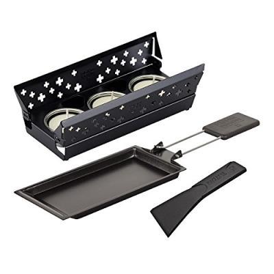 Raclette set candle light mini noir kuhn rikon 32170