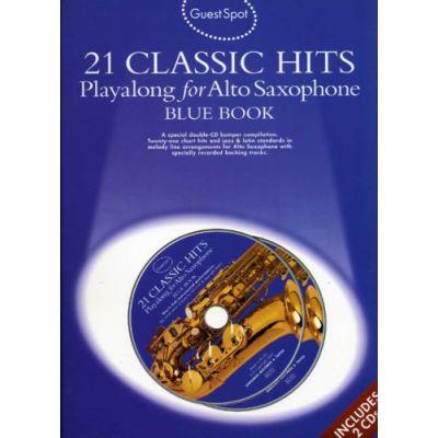 Guest Spot 21 Classic Hits Blue Book Pour Saxophone Alto 2Cds