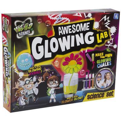 Weird Science - Awesome Glowing Lab - Kit d'Expériences Scientifiques Phosphorescente Version Anglaise