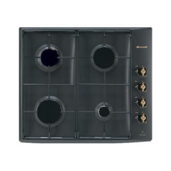 tout neuf a15ff 1d4fb Brandt TE1016E table de cuisson au gaz - 60 cm - noir rétro ...
