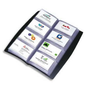 Porte Cartes De Visite Tout Terrain Noir Capacite 240 En PVC L135 X H277 Cm Carte Top Prix