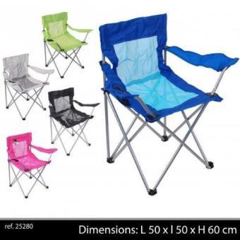 Chaise de camping avec housse fauteuil de camping pliable siege de plage gris