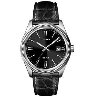 montre homme bracelet cuir noir