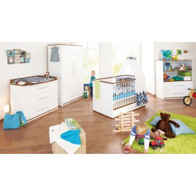 Pinolino - Chambre bébé Tuula blanche et marron
