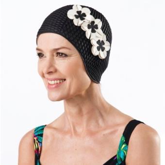 nouvelle qualité meilleure sélection nouveau design Fashy bonnet de bain en caoutchouc pour femme noir noir