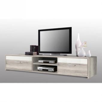 Finlandek meuble tv katso 160cm chene cendr blanc achat for Meuble tv finlandek