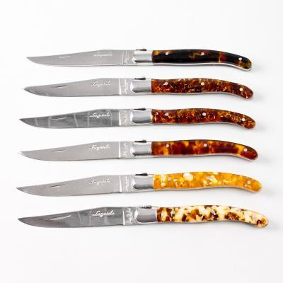 Coffret Prestige, 6 couteaux à steak LAGUIOLE Jean Dubost®, Ecaille