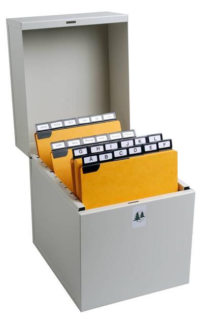 Boîte Exacompta à fiches Metalib pour 210x135mm et 210x148mm