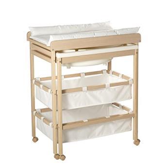 Roba - Table à langer baignoire coulissante roba avec paniers