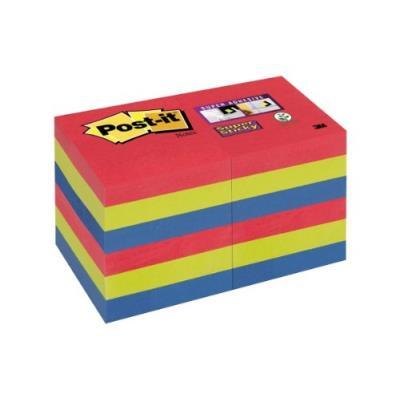 Post-it 622-12ss-jp lot de 12 blocs de notes 90 feuilles 51 x 51 mm couleurs vitaminées 62212sj