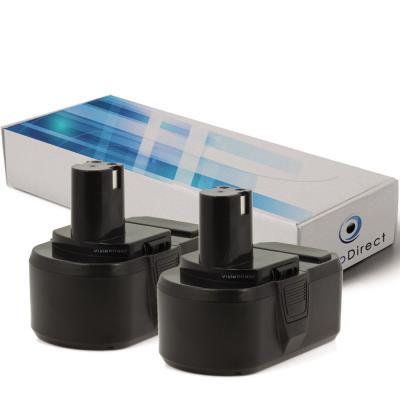 Lot de 2 batteries pour Ryobi CCS-1801/DM scie circulaire 3000mAh 18V - Visiodirect -