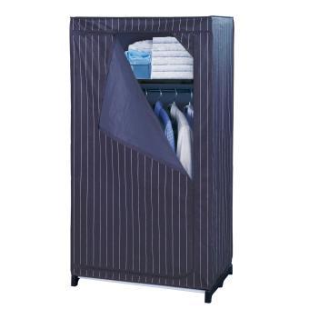 Armoire-penderie comfort avec compartiment de rangement - blanc-bleu ...