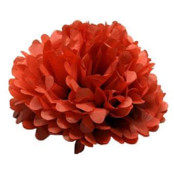 Cotillon D Alsace 1 Boule Fleur Rouge Decorative 45 Cm Article