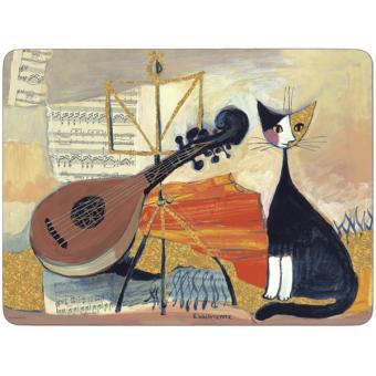 4 Sets de table rectangulaires rigides Musical Cat - Pimpernel ...