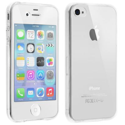 Coque Silicone Integrale Apple iPhone 4 4S Transparent Protection 360