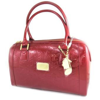 vraie affaire Site officiel une grande variété de modèles Sac Cuir 'Jacques Esterel' notes de musique rouge vernis