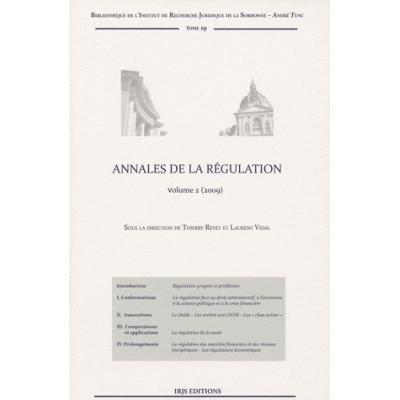 Annales de la régulation. Volume 2, Edition 2009