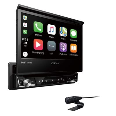 Pioneer Car Multimedia Autoradio USB/DVD/CD/Bluetooth 4 x 50 w Noir