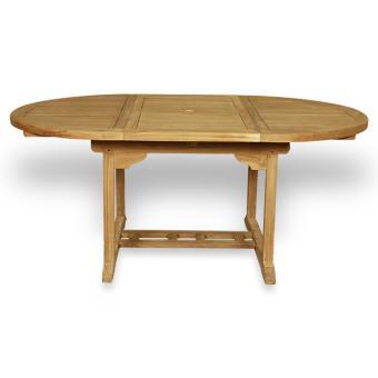182€70 sur Salon de jardin en teck Ecograde Wesport, table ronde ...
