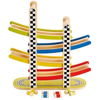 Hape - e0372 - jouet de premier age - circuit de voitures en lacets